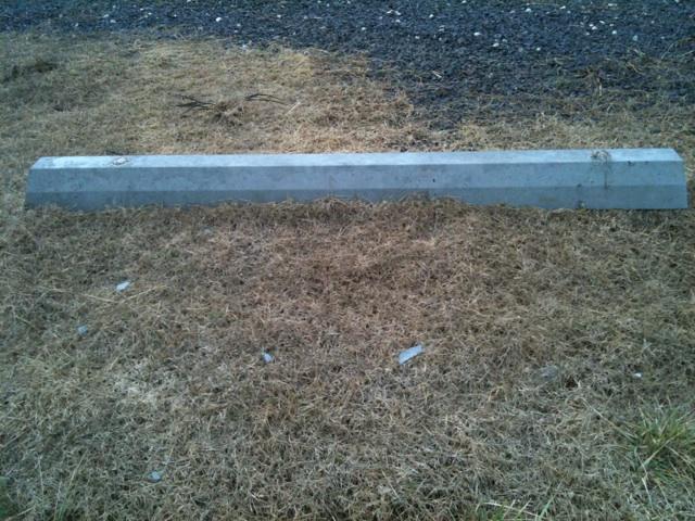 concrete curb stop